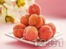 Рецепта Слепени сладки прасковки с шипков мармалад